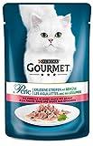 Gourmet Perle Katzenfutter Erlesene Streifen mit Forelle und Gemüse, 24er Pack (24 x 85 g) Beutel