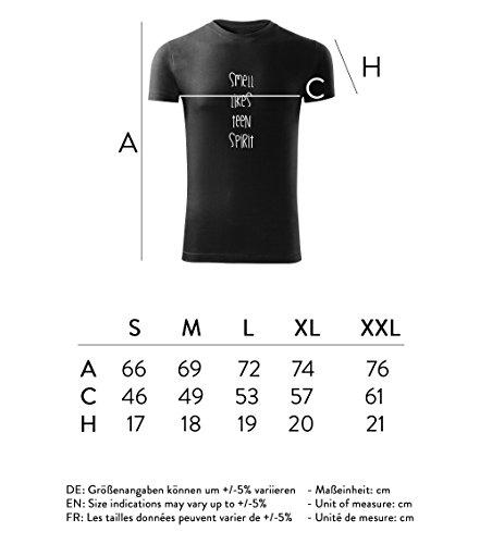 Herren Shirt smells like teen spirit schwarz & weiß Motiv - T-Shirt Poloshirt mit Motiv - Neu S - XXL Schwarz