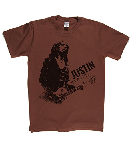 Just Hawkins Classic Rock Musik Legends Retro-T-Shirt Braun