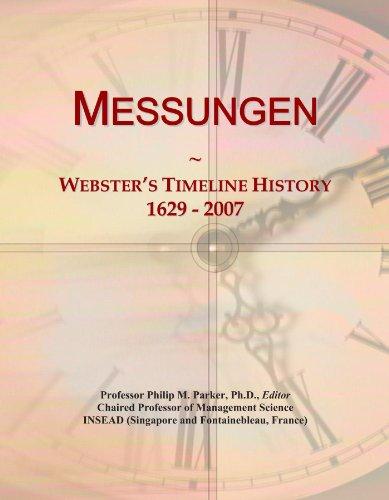 Messungen: Webster's Timeline History, 1629-2007