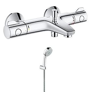GROHE 34569000 Grohtherm termostático para bañera y 800/grifo mezclador monomando para ducha, montaje en pared + C.K T4562TIN 2 – Accesorio para destornilladores (2 cm)