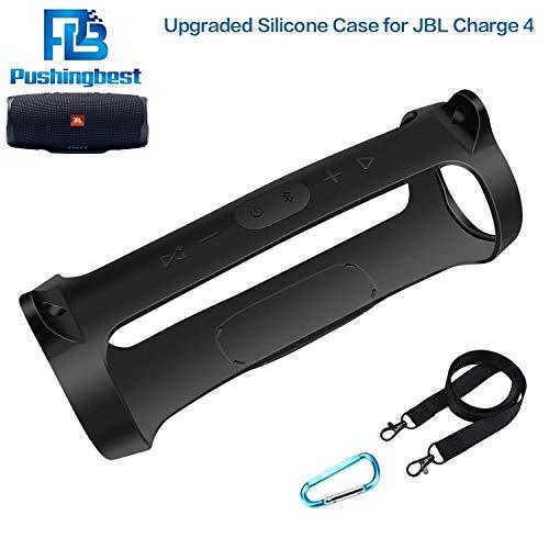 PushingBest (NEU) Silikon hülle Schlinge Tasche für JBL Charge 4 Tragbarer wasserdichter drahtloser Bluetooth-Lautspreche -
