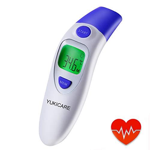 Fronte Termometro Digitale a Infrarossi Senza Contatto, Termometro Per Neonati Per Adulti e Oggetti - Certificazione CE RoHS e FDA (Batteria Inclusa) (blu)