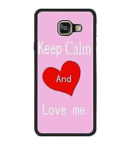Fuson Designer Back Case Cover for Samsung Galaxy A3 (6) 2016 :: Samsung Galaxy A3 2016 Duos :: Samsung Galaxy A3 2016 A310F A310M A310Y :: Samsung Galaxy A3 A310 2016 Edition (Pleasing Proposing Pleading Blue Asking)