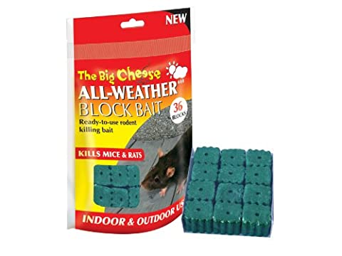 Big Cheese STV121 All-Wetter-Block Bait Ratten und Mäuse Killer (36 Pack)