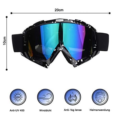 Motorrad Brille Licht TPU Rahmen Blendschutz Goggle Anti Nebel Mode Sportbrille Motocross Goggle -