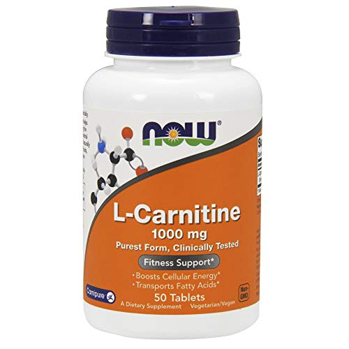 Now Foods Carnitine Tartrate 1000 mg 50 tabs Carnitina Tartrato da 1 gr.