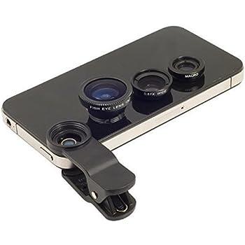 Evana Universal 3 in 1 Cell Phone Camera Lens Kit - Fish Eye Lens / 2 in 1 Macro Lens & Wide Angle Lens (Blue)