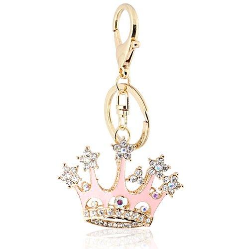 Klaritta Schlüsselanhänger Prinzessinnenkrone für Damenhandtasche HK54 Rosa