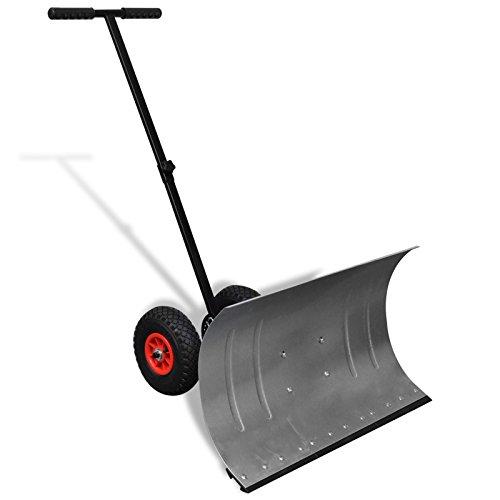 vidaXL Pala spazzaneve manuale con ruote