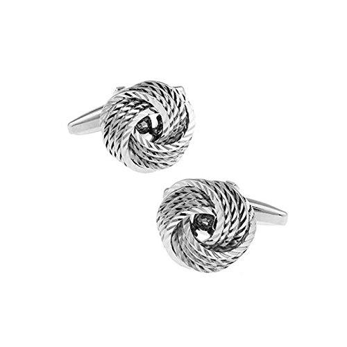 Chnuo 1 Paar hochwertige Silber Weizen Spikes Twist Form Französisch Eleganz Manschettenknöpfe für Gentleman Men