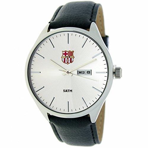 RADIANT Reloj analógico de caballero F.C.BARCELONA – Correa de piel –  Calendario – BA- d4d65f7654c