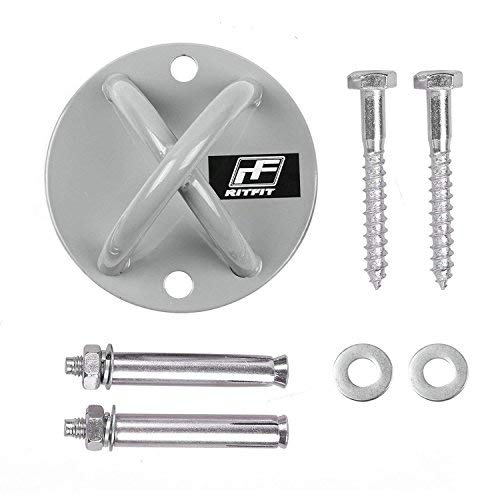 Wall / Ceiling Mount for Suspension Straps Crossfit Body Weight Strength Training (2 Different Sets of Screws to choose) (Wall-ball-mount)