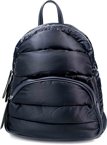 Backpack Rucksack Nylon Marine Blau Rhea 2 grosse Silber Reißverschlüsse Backpack (Marine-blau-michael Kors Handtaschen)