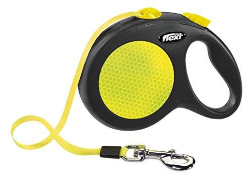 Flexi 80180 New NEON L 5m Gurt, max 50 kg, neongelb (Leine Seil Gurt)