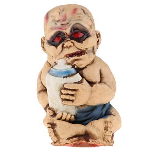 D DOLITY Halloween Puppe Gruselige Zombie böse Babypuppe Trick Spielzeug - B