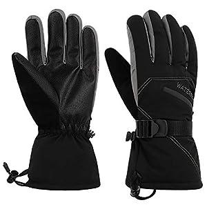 WATERFLY Handschuhe Warme Handschuhe Winter Handschuhe Skihandschuhe Motorradhandschuhe Fahrradhandschuhe Outdoor Handschuhe für Herren Damen Skifahren Snowboarden Eislaufen Schaufeln