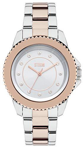 Storm Zirona Exclusivo de Dos Tonos Reloj de Pulsera de Acero Inoxidable