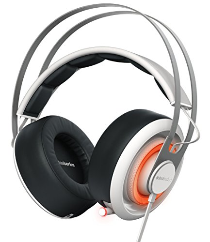 SteelSeries Siberia 650 - Auriculares para juego, sonido Dolby Surround 7.1, iluminación RGB, gestión de software, (PC / Mac), color blanco