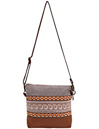 Amit Bags Beautiful Printed Cotton Canvas Cross Body Bag For Girls And Women's(Multi Colour)