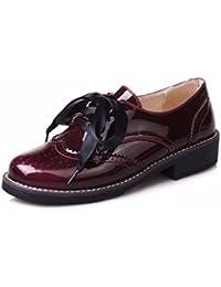 Kleine Schuhe Aus Leder, Weiblichen College, Wind, PU, Groß, Schuhe, Schwarz, 37