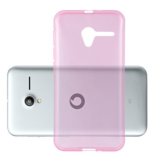 Cadorabo Hülle für Vodafone Smart Speed 6 - Hülle in TRANSPARENT PINK - Handyhülle aus TPU Silikon im Ultra Slim \'AIR\' Design - Silikonhülle Schutzhülle Soft Back Cover Case Bumper