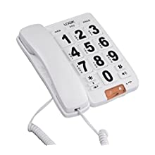 Corded Big Button Telephone with Speakerphone - LOGIK L05CBIG10