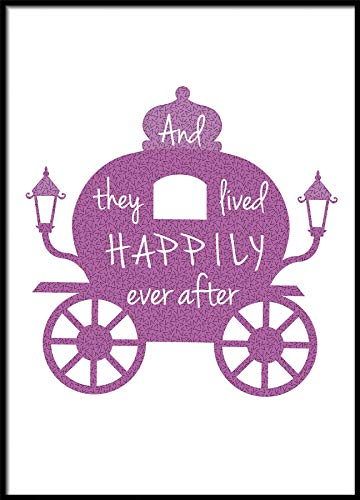 and They Lived Happily Ever After Kindergarten-Artwork A3 Size 16.5 x 11.7 Inch