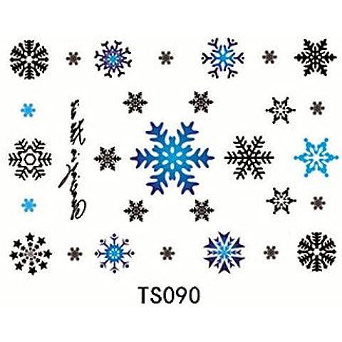 HJLWST® 1pcs fiocco di neve 3d tatuaggio impermeabile