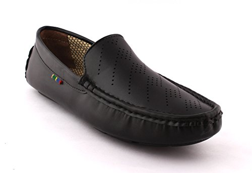 c185be08969 ... shoes  9 off on redfoot leather look men black driving casual loafers  ...