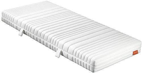 sleepling 7-Zonen Tonnentaschenfederkern Matratze Comfort 110 Universal Härtegrad 2,5 in 90 x 200 x 18 cm, weiß