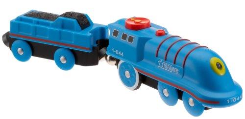 Simba Eichhorn-Bahn 100001044 - Locomotora con Remolque (2 Unidades), Color Azul