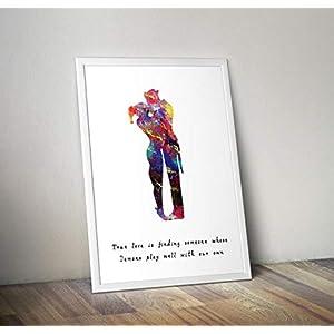 Harley Quinn inspirierte Poster – Joker Aquarell Print – Alternative TV/Movie Prints in verschiedenen Größen (Rahmen nicht im Lieferumfang enthalten)