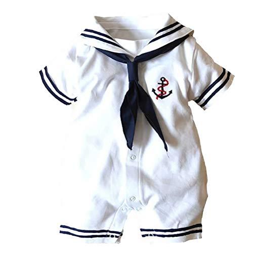 Vanornia Baby Jungen Mädchen Matrose Kostüm Strampler Anker Sailor Kleidung Jumpsuit Bodysuit Outfits