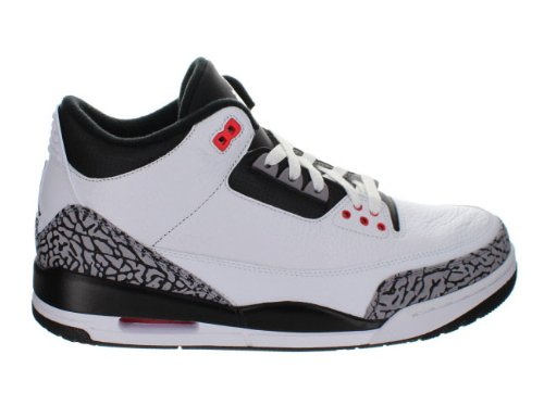 Nike Air Jordan 3 Retro 'Infrared 23' White/Black-Cmnt Gry-Infrrd 23 Trainer (42 EUR) - Air Jordan 3 Retro