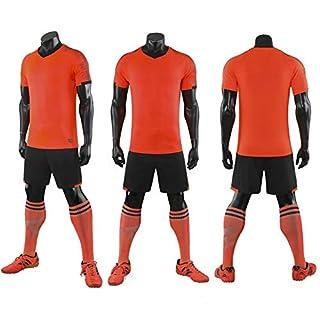 LQZQSP Ensembles De Football Survetement Football Kits Adultes Hommes Futbol Training Maillots De Football + Short De Course Costumes, M