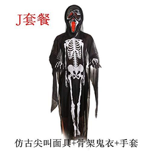 Weihnachtsgeschenk Ghost Kostüm - Ytter Halloween Ghost Festival Kostüm Skeleton Kleidung Erwachsene Kinder Skeleton Geist Kleidung Kindergarten Kostüme-17