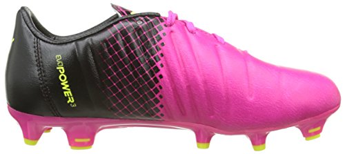 Puma Evopower 3 3 Fg, Chaussures de Football Garçon Rose (Pink Glo/Safety Yellow/Black)