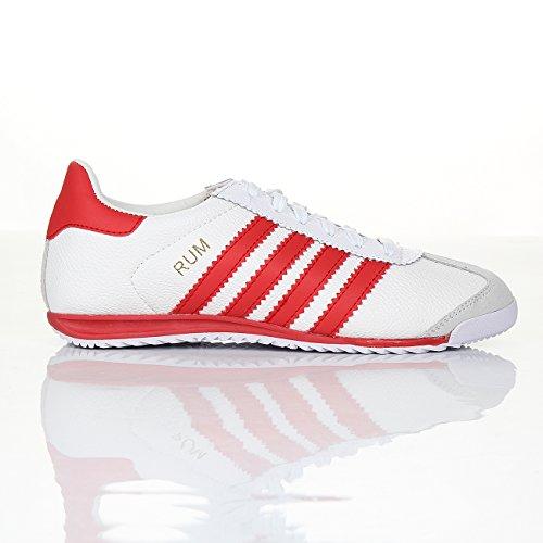 Shoes Click , Baskets mode pour homme blanc/rouge