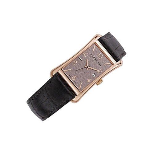Burberry BU3000–Montre de Poignet pour homme, bracelet en cuir noir