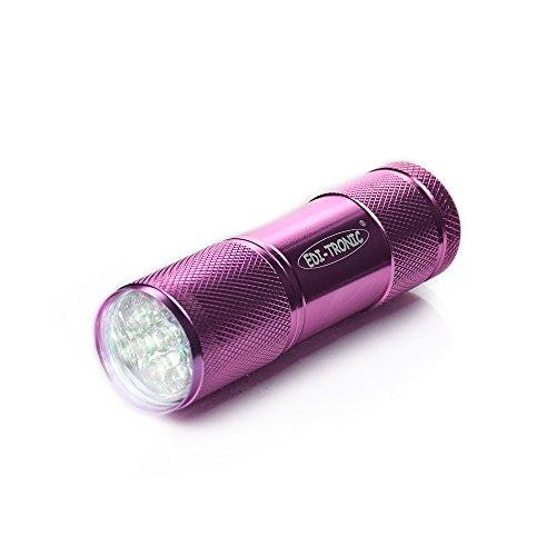 Taschenlampe 9 LED´s pink inkl. Batterien - LED Lampe Alu Leuchte Licht 9 Led-taschenlampen