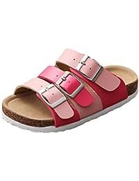 SK Studio Kinder Sandalen Handmade Kork Strand Sandalen Flach Birko-Flor  Kork Schuhe Pantoletten Sommer 2600d6a12d