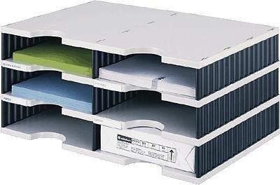 styrodoc Sortierstation Duo mit 6 Fächern/268020398 485x331x223mm grau/schwarz