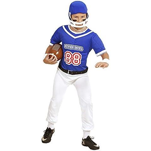 Disfraz de jugador de rugby azul para niño - 5-7 años