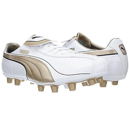 Puma ESITO XL I FG 101600 Fußballschuhe Herren Nocken Weiß Gold Weiß