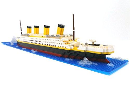 Brigamo Spiele 479 – Titanic Bausteine Schiff, 450 Teile, 60 cm lang, kompatibel mit den gängigen Marken Bausteinen - 3