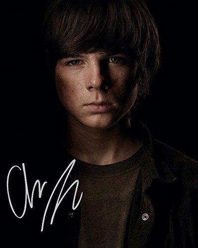 Chandler Riggs - The Walking Dead Autogramme Signiert 21cm x 29.7cm Foto Plakat -
