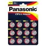 12 X Panasonic CR2032 Lithium Cell 3V Battery Batteries, DL2032, BR2032, KCR2...