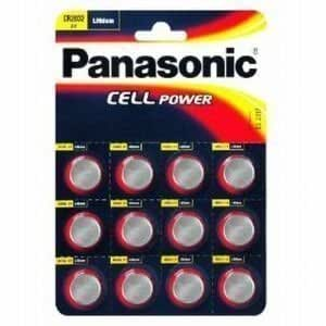 12 x panasonic cr2032 lithium cell 3v battery. Black Bedroom Furniture Sets. Home Design Ideas