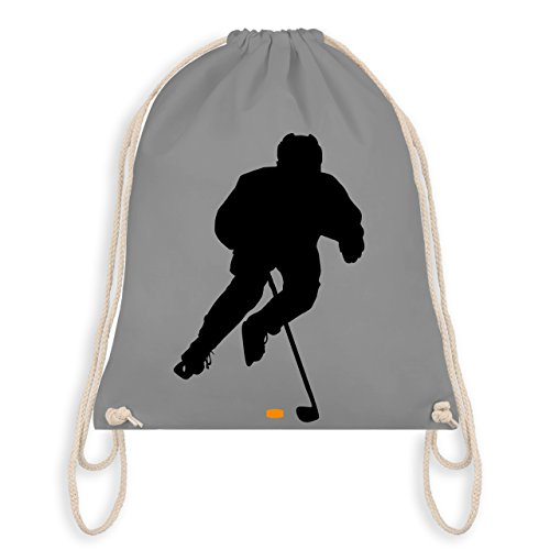 Shirtracer Eishockey - Eishockey Spieler - Unisize - Hellgrau - WM110 - Turnbeutel & Gym Bag